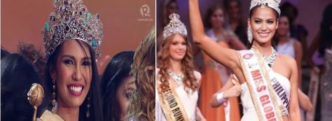 2015 Miss Earth Angela Ong and Miss Globe