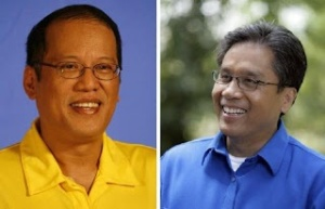 Aquino, left and Roxas, right