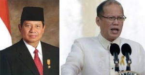 Two presidents: Indonesia, left and Philippines, right