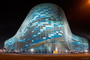 The Iceberg Skating Palace in Sochi, Russia
