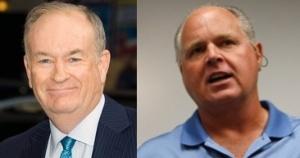 Show hosts Bill O'Reilly, left, and Rush Limbaugh.