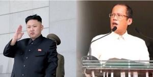North Korea's Kim Jong Un, left, and the Philippines' NoyNoy Aquino