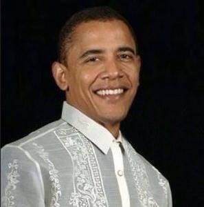 Obama in a Barong Tagalog