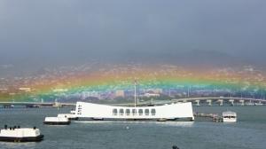 The USS Arizona Memorial at Pearl Harbor, Honolulu, Hawaii