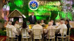 Obama at Manila state dinner