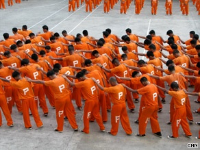 """Philippine jail inmates in the viral YouTube video """"Thriller"""""""