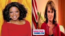 Winfrey, left, and Palin