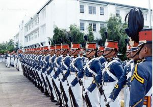 Cadets stand at attention at the Philippine Military Academy