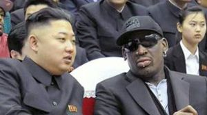 Rodman, right, with North Korean leader Kim Jong-un
