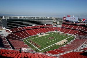 The Levi's Stadium in Santa Clara, home of the 49ers