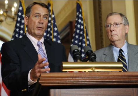 Boehner, left, and Mitch McConnell