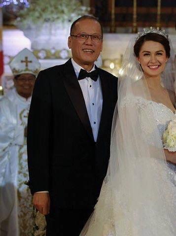 President Aquino and bride Marian Rivera