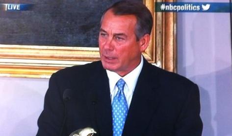 Boehner (Photo courtesy of NBC)