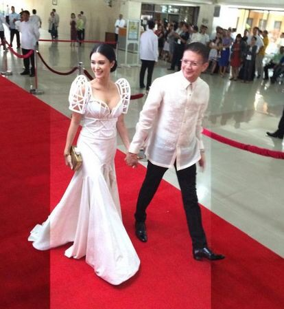 Philippines Senator Choz Escudero and fiancee Heart Evangelista during the last State of the Nation Address in ManilA