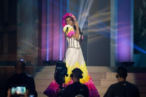 Miss Philppines Mary Jean Lastimosa in her national costume