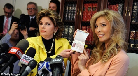 Talackova and her attorney, Gloria Allred