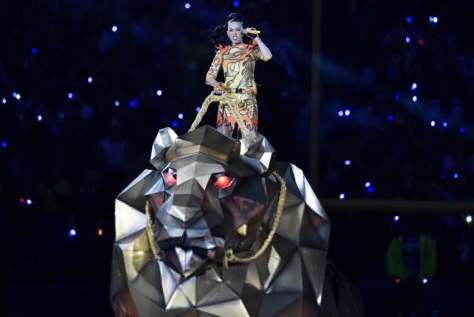 Katy Perry at Sunday's Super Bowl Half-time Show