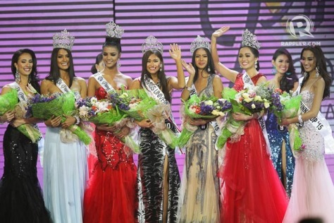 The 2015 Miss Philippines title holders (Photo credit: rappler.com)