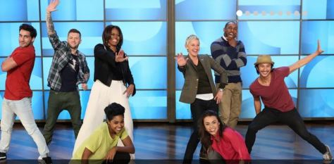 Michelle Obama does the moves on the Ellen Show