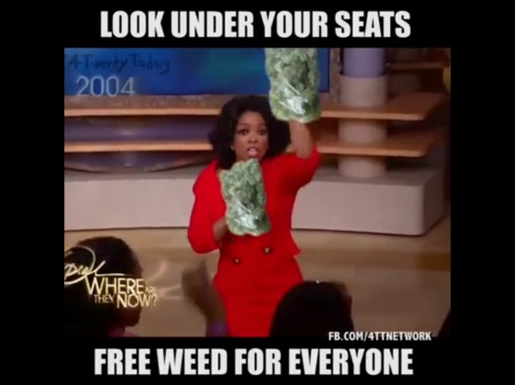 Oprah Gives Away Free Weed To Her Live Tv Show Audience