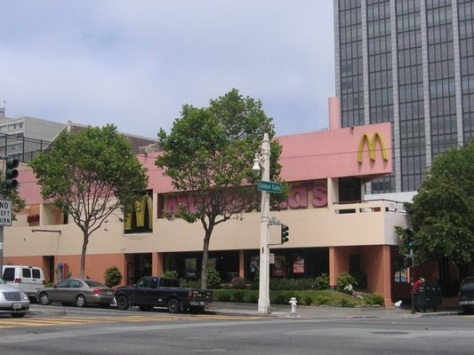 Now closed: McDonald's on Van Ness Street in San Francisco