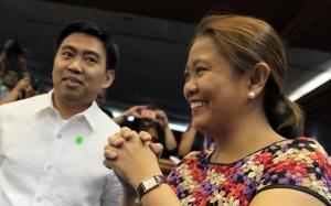 Junjun Binay, left, and Nancy Binay  (Photo credit: Inquirer.net)