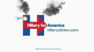 Photoshopped version of Hillary's campaign logo