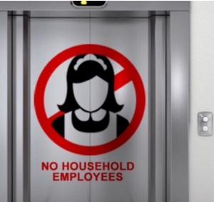 Use service elevators