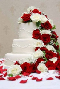 The Hoosier's wedding cake would have looked like this. (Photo credit: weddingzone.org)