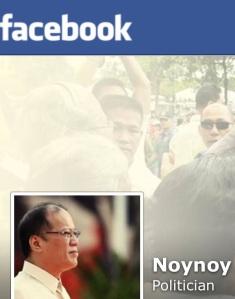 Aquino's Facebook page (screen grab)