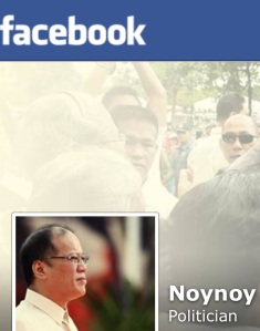 Aquino's Facebook page (screen grab)