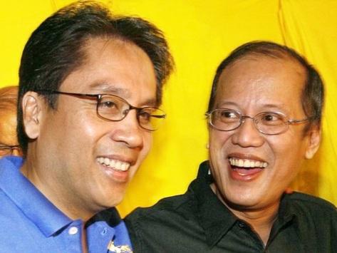 Roxas, left, and Aquino