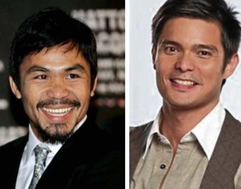 Pacquiao, left, and Dantes