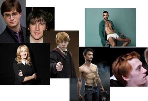 Rowling, Radcliff, Lewis and Grint. Then and now.