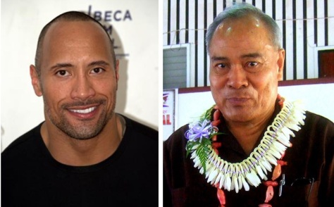 The Rock, left, and The Governor