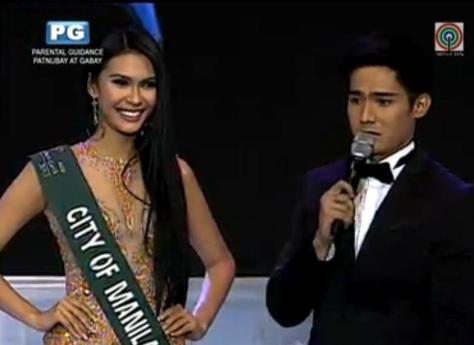 Miss Philippines-Earth, left