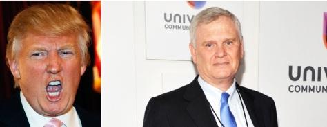 Trump, left, and Univision CEO Randy Falco