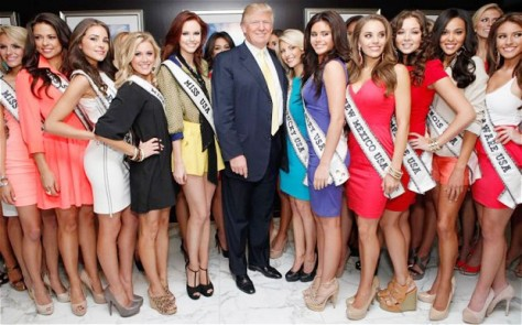 Trump and Miss U.S.A. hopefuls