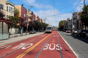 Red bus lanes