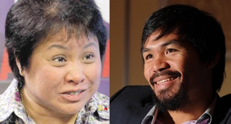 Henares, left, and Pacquiao