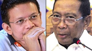 Escudero, left, and Binay