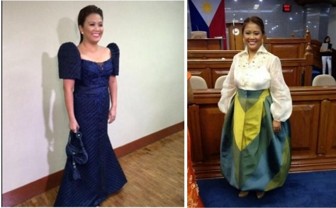 Binay this year, left, and last year