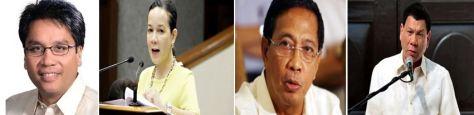 The 'presidentiables' : Roxas, Poe, Binay and Duterte
