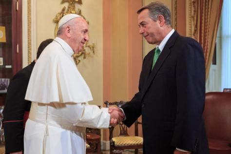 Boehner's private audience with Pope Francis at the U.S. Capitol on Thursday