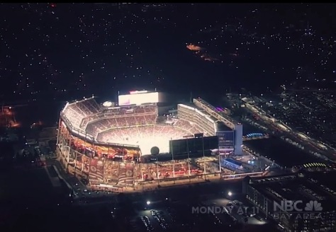 Levi's Stadium at night - Screen grab (NBC Bay Area)
