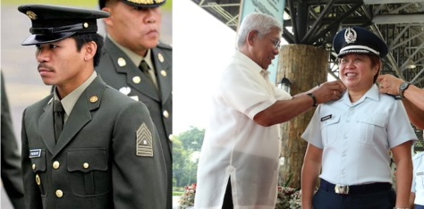 Lt. Col. Pacquiao, left, and Lt. Col. Henares