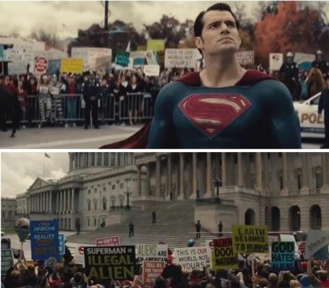 Controversial scene from 'Batman v Superman' (screen capture)