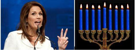 Bachmann, left, and the Menorah