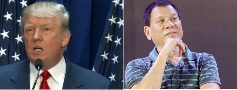 Trump, left, and Duterte