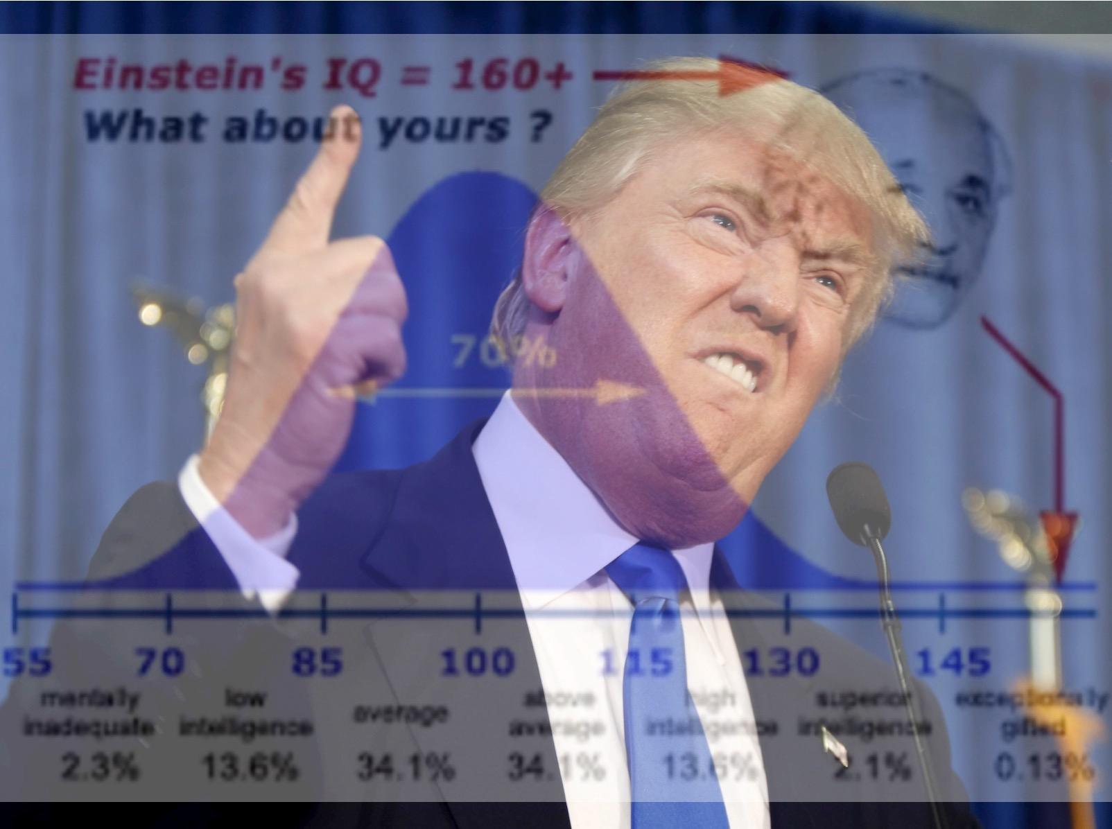 Afbeeldingsresultaat voor donald trump IQ
